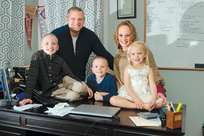 Kevin and Nickie Baranowski, with their children Brayden,  Noah, and Lyla.